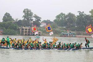 Sôi động Hội thi bơi chải truyền thống trên sông Lô