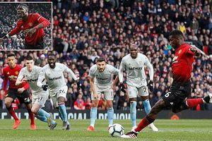 Pogba lập cú đúp phạt đền, M.U đánh bại West Ham