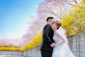 Ảnh cưới lãng mạn của nữ diễn viên 'Bước nhảy hoàn vũ' và chồng ở Hàn Quốc