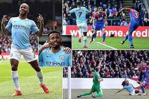 Sterling rực sáng, Man City vượt Liverpool đòi lại ngôi đầu