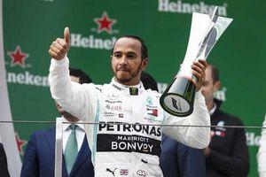Hamilton thắng chặng đua F1 thứ 1.000 tại Trung Quốc