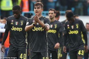 Ronaldo vắng mặt, Juventus lỡ cơ hội đăng quang sớm