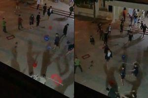 Clip 2 nhóm sinh viên trường Cao đẳng Công thương Hà Nội hỗn chiến như giang hồ