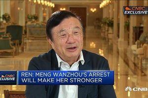CEO Huawei Nhậm Chính Phi: 'Con gái tôi sẽ phải mạnh mẽ hơn'