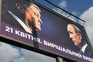 Ông Poroshenko bình luận về biển quảng cáo dùng hình ảnh Tổng thống Putin