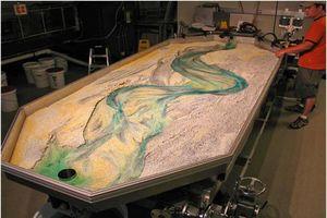 Nghiên cứu chế tạo thử nghiệm sa bàn mô hình vật lý thủy lực dòng sông