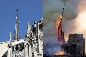CLIP: Tháp chuông Nhà thờ Đức Bà Paris đổ sập trong vụ cháy khủng khiếp