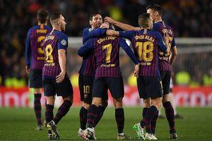Messi lập 'cú đúp', Barcelona tiễn MU rời Champions League