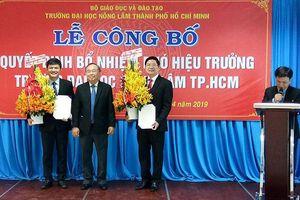 Đại học Nông Lâm bổ nhiệm thêm 2 Hiệu phó để đẩy mạnh nghiên cứu khoa học
