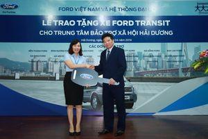 Ford Việt Nam trao tặng xe Transit cho Trung tâm bảo trợ xã hội tỉnh Hải Dương