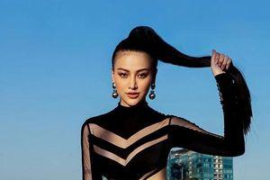 Giảm 10 ký, hoa hậu Phương Khánh khoe hình thể nóng bỏng trên nóc nhà cao tầng