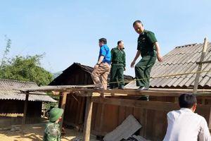 Lốc xoáy gây thiệt hại trên địa bàn xã biên giới Nghệ An