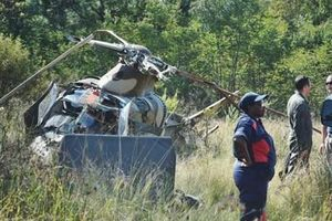 Rơi trực thăng quân sự ở Nam Phi khiến 2 người bị thương nặng