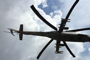 Rơi trực thăng quân sự, 2 phi công bị thương nặng
