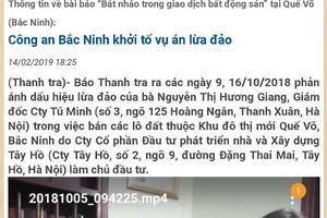 Công an tỉnh Bắc Ninh thông báo tìm bị hại