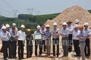 Văn phòng BCĐ quốc gia về điện lực: Kiểm tra thi công đường dây 500kV Quảng Trạch - Dốc Sỏi