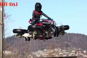 Choáng với chiếc siêu motor vừa chạy và có thể bay