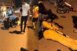 Thiếu tá CSGT bị tông gục khi đang giữ xe vi phạm ở Hà Nội