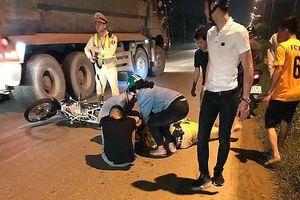 Thiếu tá CSGT bị xe máy húc trong lúc xử lý vi phạm