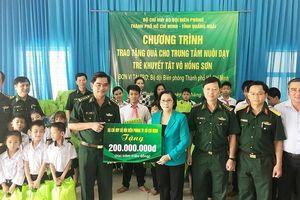 Bộ đội Biên phòng TPHCM làm công tác xã hội tại Quảng Ngãi