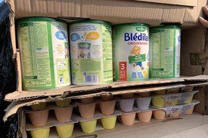 Hàng ngàn hộp sữa, váng sữa, dầu gội nhập lậu vào cảng Cát Lái