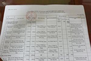 Quảng Bình: Loạt trưởng phòng và Phó Chủ tịch UBND huyện Minh Hóa phải kiểm điểm.