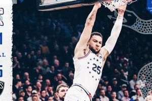 Chùm ảnh: Ben Simmons tỏa sáng, 76ers dễ dàng thu phục Nets