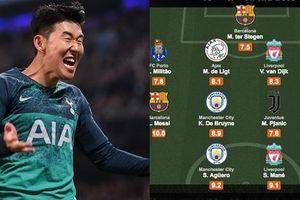 Đội hình tiêu biểu tứ kết Champions League: Son Heung Min vắng mặt