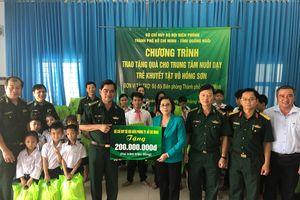 BĐBP TP Hồ Chí Minh: Tặng quà cho trẻ em khuyết tật và ngư dân nghèo Quảng Ngãi