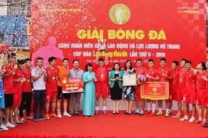 Giải bóng đá Cúp báo Lao động Thủ đô đã tìm được nhà vô địch