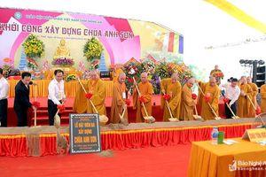 Khởi công ngôi chùa mới trong Khu Di tích đền Cửa Lũy ở Nghệ An