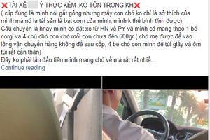 Tài xế taxi và khách nữ tranh cãi gay gắt vì... một chú chó