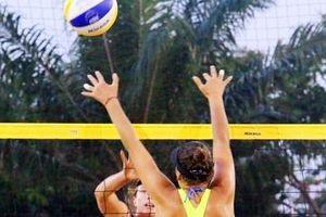 Tranh tài kịch tính tại Giải bóng chuyền bãi biển nữ Châu Á 2019