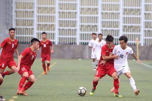 U18 Việt Nam chia điểm với U18 Myanmar ở giải Quốc tế Hong Kong 2019