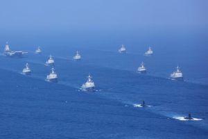 52 tàu chiến, 39 máy bay dự lễ duyệt binh lớn của hải quân TQ