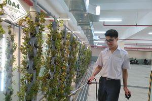 Học sinh tự tin 'khởi nghiệp' với dự án 'Cải tạo chất lượng không khí ở hầm xe'