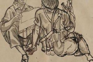 Hơn 200 bức tranh, ký họa sẽ được giới thiệu tại triển lãm 'Ký ức Đường Trường Sơn'