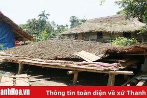 Lang Chánh: Nhiều nhà dân bị thiệt hại do lốc xoáy và mưa đá