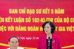 Ban chỉ đạo sơ kết 5 năm thực hiện kết luận số 102-KL/TW của bộ Chính trị làm việc với Đảng đoàn Hội Luật gia Việt Nam