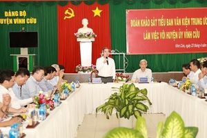 Đoàn Tiểu ban văn kiện Đại hội XIII làm việc tại tỉnh Đồng Nai