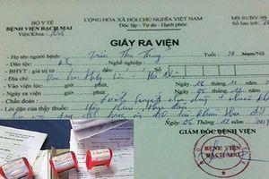 Hàng trăm giấy khám sức khỏe, giấy ra viện của Bệnh viện Bạch Mai bị làm giả
