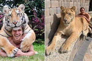 Gặp Tarzan đời thực 'cặp kè' với 'quái vật' lai 400kg
