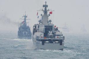 Tàu Hải quân Việt Nam tham duyệt binh quốc tế ở Thanh Đảo