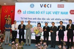 Lễ hội hoa anh đào nhận bằng Kỷ lục Việt Nam