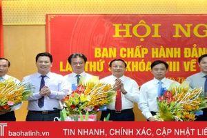 Ban Chấp hành Đảng bộ Hà Tĩnh bầu bổ sung 3 ủy viên BTV Tỉnh ủy