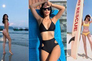 Mỹ nhân Việt 'thách thức' thời tiết nóng 40 độ với bikini 'rực lửa'