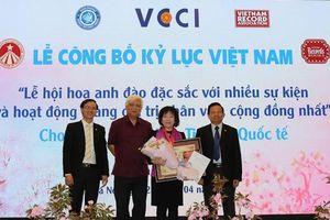 Lễ hội hoa anh đào Nhật Bản Hà Nội 2019 được xác lập Kỷ lục đặc sắc, nhân văn, giá trị cộng đồng nhất Việt Nam