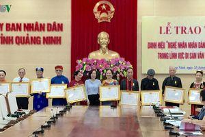 12 nghệ nhân được trao danh hiệu Nghệ nhân nhân dân, Nghệ nhân ưu tú