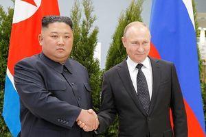 Ông Putin di chuyển bằng trực thăng tới gặp ông Kim Jong-un