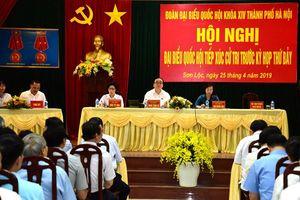 Bí thư Thành ủy Hoàng Trung Hải: Giải quyết kiến nghị của cử tri ngay từ cơ sở